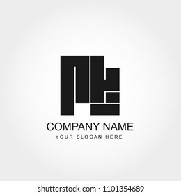 Initial Letter RK Logo Template Vector Design