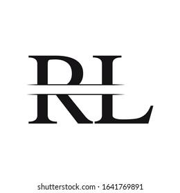 Initial Letter RL Linked Logo Vector Template. RL Logo Design