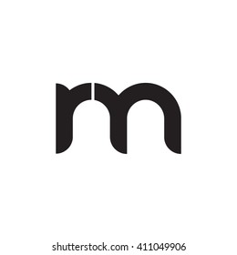 initial letter rm linked round lowercase monogram logo black