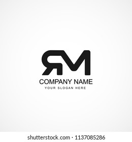 Initial Letter RM Logo Template Design