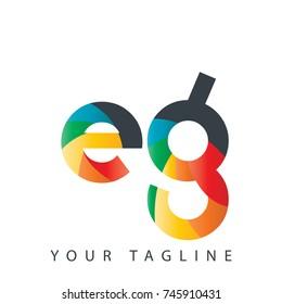 Initial Letter EG Rounded Design Logo