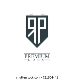 Initial Letter RP Company Design Logo Template
