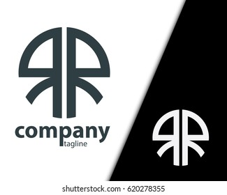 Initial Letter RR With Linked Circle Logo