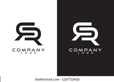 Initial Letter rr/r Logo Template Vector Design with black and white background