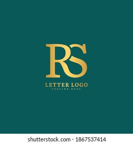 Initial Letter RS logotype company name monogram design for Company and Business logo.