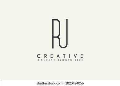 Initial letter RU linked logo design vector illustration