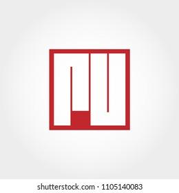 Initial Letter RU Logo Template Vector Design