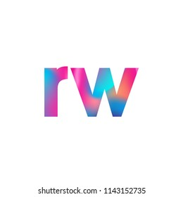 Initial Letter RW Logo Lowercase colorful design, Modern and Simple Logo Design.