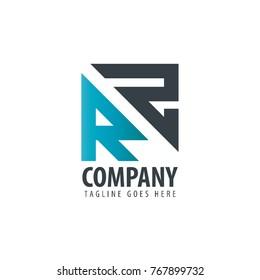 Initial Letter RZ Design Logo