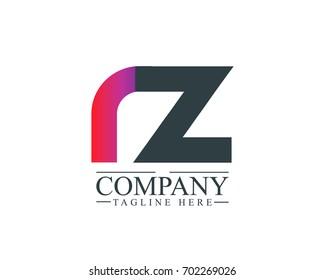 Initial Letter RZ Linked Design Logo