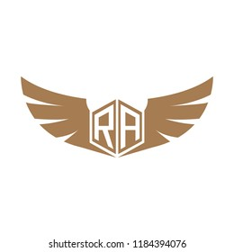 Initial Letter RZ Logo Design with Wings