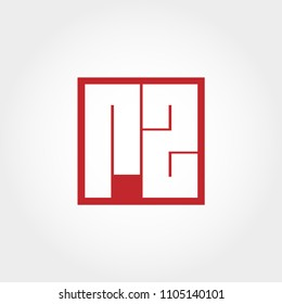 Initial Letter RZ Logo Template Vector Design
