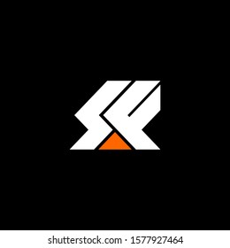 Initial letter S F logo template with modern arrow flat design illustration