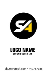 Initial letter S & A logo template vector