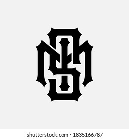 Initial letter S, M, I, SMI, SIM, MSI, MIS, ISM or IMS overlapping, interlock, monogram logo, black color on white background