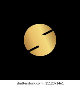 Initial letter S OS SO O minimalist art logo, gold color on black background