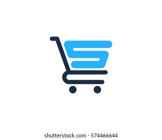 Initial Letter S Shop And Shopping Logo Design Element