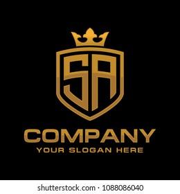 Initial Letter SA Logo Design
