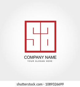 Initial Letter SA Logo Template
