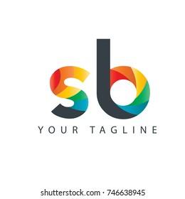 Initial Letter SB Rounded Design Logo