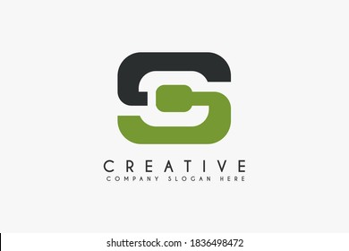 Initial Letter SC logo design vector illustration. Letter SC icon. Usable for business and technology Logos, Isolated on white background