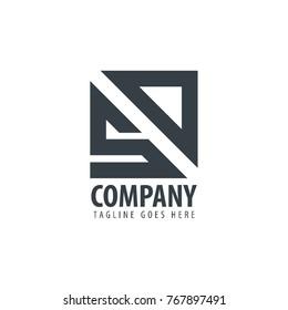 Initial Letter SD Design Logo