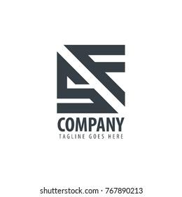 Initial Letter SF Design Logo