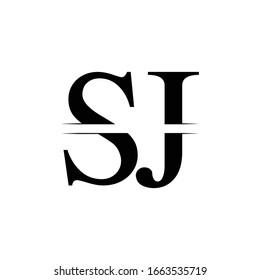 Initial Letter SJ Logo Design Vector Template. SJ Letter Logo Design
