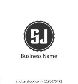 Initial Letter SJ Logo Template Design