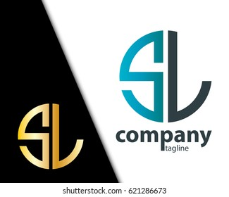Initial Letter SL With Linked Circle Logo
