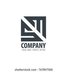 Initial Letter SM Design Logo
