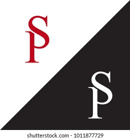 Initial Letter SP Linked Design Logo