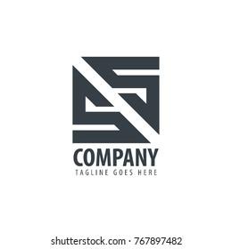 Initial Letter SS Design Logo