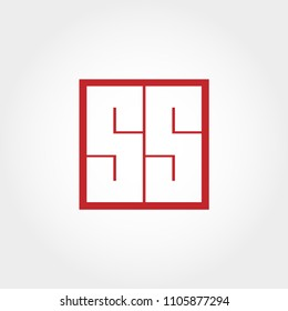 Initial Letter SS Logo Template Vector Design