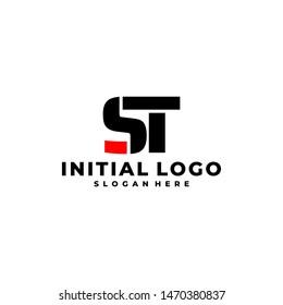 Initial Letter ST Logo Template Design.