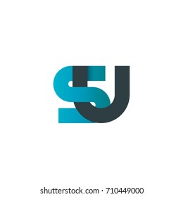 Initial Letter SU Linked Design Logo