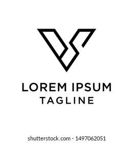 INitial Letter SV, SV Vector Logo Template