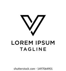 INitial Letter SV Vector Logo Template