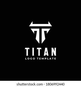 Initial Letter T Titan Shield logo design