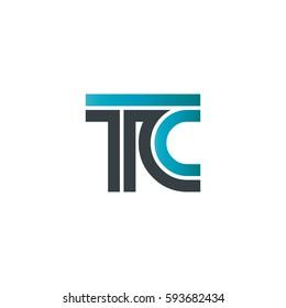 Initial Letter TC Linked Design Logo