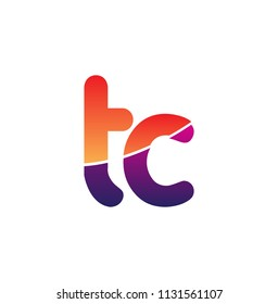 Initial Letter TC Logo Lowercase, colorful logotype Modern and Simple Logo Design.