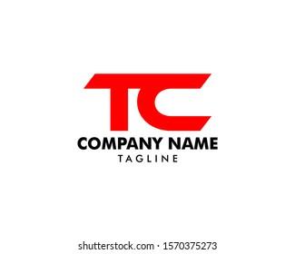 Initial Letter TC Logo Template Design