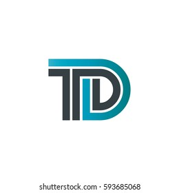 Initial Letter TD Linked Design Logo