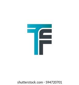 Initial Letter TF LInked Design Logo
