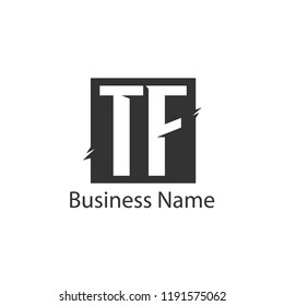 Initial Letter TF Logo Template Design