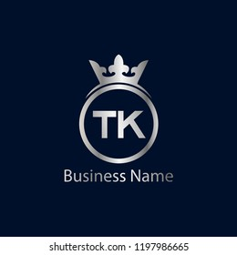 Initial Letter TK Logo Template Design