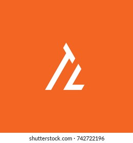 Initial Letter TL Linked Triangle Design Logo