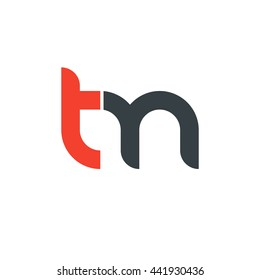 initial letter tm linked round lowercase logo red
