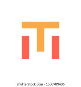 Initial letter TM logo line unique modern. Initial letter logo line unique modern