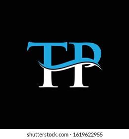 Initial Letter TP Logo Design Template. Abstract TP Linked Letter Vector Illustration
